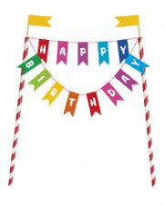 Happy Birthday Bunting Cake Toppers
